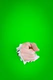 peka för handhål arkivfoton