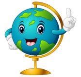 Peka för tecknad filmvärldsjordklot vektor illustrationer