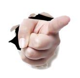 Peka fingret Fotografering för Bildbyråer