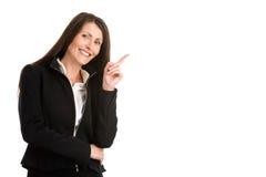 peka för affärskvinna Royaltyfri Fotografi