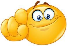 Peka på dig emoticonen royaltyfri illustrationer