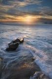 Peka till horisonten Fotografering för Bildbyråer