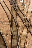 pekar den järnväg strömbrytaren Arkivfoton