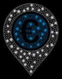 Pekare för euro för signalljusingrepp 2D med pråliga fläckar royaltyfri illustrationer
