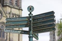 Pekare för York stadsmitt, Storbritannien, Maj 2018 royaltyfria bilder