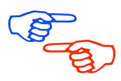 pekfinger vektor illustrationer