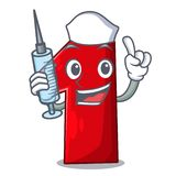 Pekfinger för sjuksköterskanummer ett på tecknad film royaltyfri illustrationer