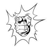 Pekfinger med den komiska bubblan vektor illustrationer