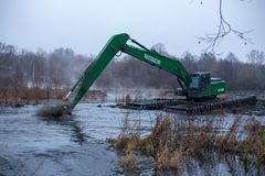 Pekhorka河的清洁 库存照片