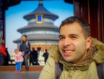 PEKIN, CHINY - 29 STYCZEŃ, 2017: Świątynia niebo, cesarski kompleks z spektakularnymi religijnymi budynkami lokalizować przy Obrazy Royalty Free