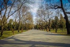 PEKIN, CHINY - 29 STYCZEŃ, 2017: Chodzący wokoło świątyni niebiański compund ogród, cesarski kompleks z różnorodnym Obrazy Stock