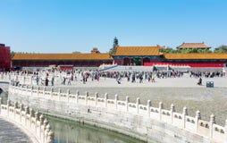 PEKIN CHINY, WRZESIEŃ, - 29, 2016: Niedozwolony miasto imperiału pa Zdjęcie Stock