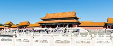 PEKIN CHINY, WRZESIEŃ, - 29, 2016: Niedozwolony miasto imperiału pa Obrazy Stock