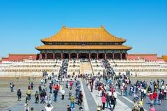 PEKIN CHINY, WRZESIEŃ, - 29, 2016: Niedozwolony miasto imperiału pa Zdjęcie Royalty Free