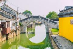 Pekin Kina, gatasikt arkivbild