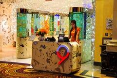 Pekin kluski Nie 9 - Chińska restauracja w Caesar pałac wewnątrz Obraz Stock