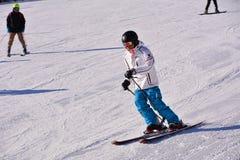 Pekin ludu narciarstwo Zdjęcia Royalty Free