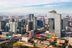 Pekin miasta Linia horyzontu obraz royalty free