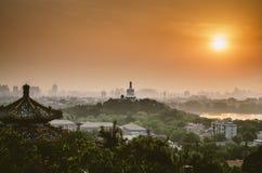 Pekin miasta linia horyzontu Zdjęcia Stock