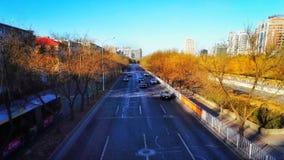 Pekin miasta ruchu drogowego scena przy światłem słonecznym Obrazy Royalty Free