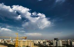 Pekin miasta scena przed deszczem obraz stock