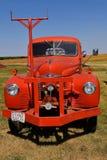 Closeup of an old restored International pickup royalty free stock image