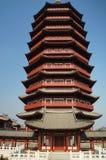 Pekin ogródu expo, Yongding wierza Obraz Royalty Free
