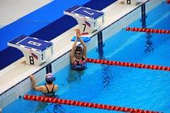 Pekin 2008 Olimpijskich Pływackich basenów Obrazy Royalty Free