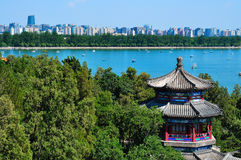 Pekin pejzaż miejski Lato Pałac jezioro obraz royalty free