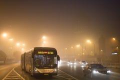 Pekin rząd wszczynający czerwony alarm Fotografia Royalty Free