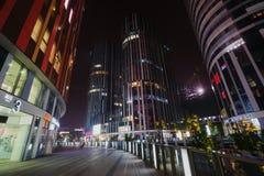 Pekin Sanlitun SOHO reklamy okręg Zdjęcie Royalty Free