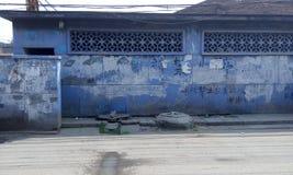 Pekin, slamsy, rozbiórka, wioska i slamsy, zanieczyszczenie, skażenie wody, toaleta, starzy domy, bungalowy, favela, rynna, Chiny Obrazy Royalty Free
