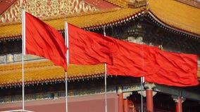 Pekin Tiananmen, lata flaga, Porcelanowy Polityczny centrum zbiory wideo
