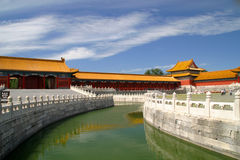Pekin Zakazująca miasto architektura Obrazy Royalty Free