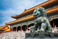 Pekin Zakazujący miasto, Chiny Zdjęcie Stock