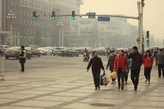 Pekin zanieczyszczenie powietrza Zdjęcie Stock