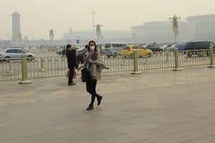 Pekin zanieczyszczenie powietrza Obraz Royalty Free