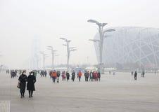 Pekin zanieczyszczenie powietrza obrazy stock