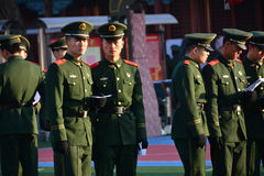 Pekin zbroił policję obraz royalty free