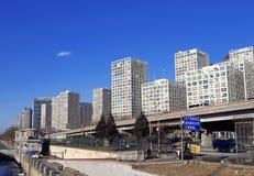 Peking byggde utvändig soho arkivbilder