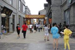 Peking Bystreet. In Qianmen Street Royalty Free Stock Image