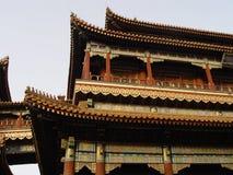 Peking China - aufwändiges Gebäude Lizenzfreie Stockfotos