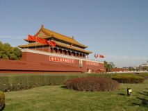 Peking China - de Verboden Stad van de Ingang stock foto's