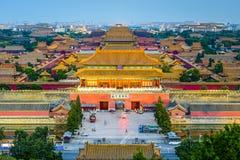 Peking, China in der Verbotenen Stadt stockfotos