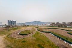 Peking, China - 18. Dezember: Peking-` s, das das Olympiastadions-watercube belichtet an der Dämmerung am 18. Dezember 2008 schwi Stockfoto