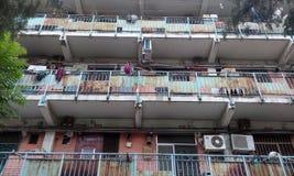 Peking, China, Dunst, im Sommer, die Straßen Lizenzfreies Stockbild