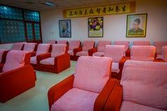 PEKING, CHINA - 29 JANUARI, 2017: Chinese massagekliniek met ruimtehoogtepunt van comfortabele die stoelen voor het geven van voe Royalty-vrije Stock Foto