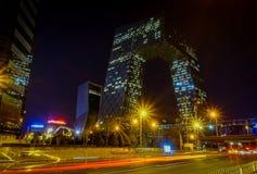 PEKING, CHINA - 29 JANUARI, 2017: De nieuwe kabeltelevisie-bouw van de stad, het spectaculaire moderne ontwerp en de bouw Royalty-vrije Stock Afbeelding
