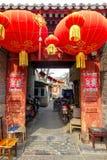 PEKING, CHINA - 12. MÄRZ 2016: Das alte Peking-hutong mit seinem Stockbilder