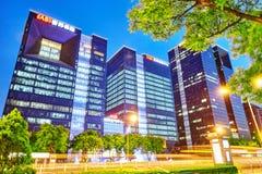 PEKING, CHINA - 20. MAI 2015: Abend, Nachtmodernes Peking-busi Lizenzfreies Stockbild